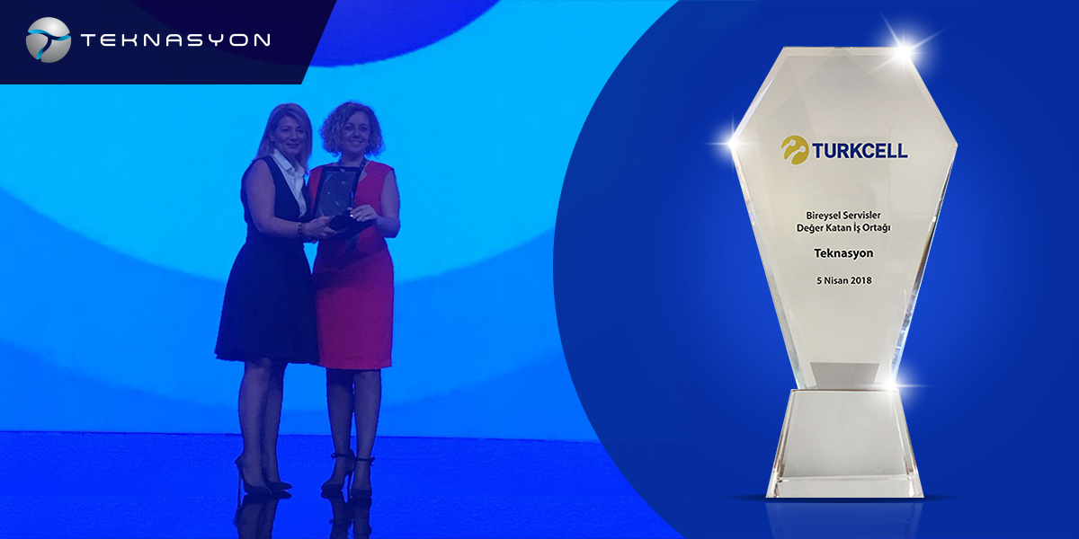 WE ARE THE PROUD RECIPIENTS OF AN AWARD IN THE TURKCELL TECHNOLOGY SUMMIT
